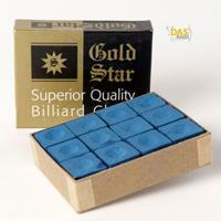 Gold Star doosje 12 krijtjes Blauw